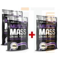BioTech USA Akciový balíček Muscle Mass 3 x 1000 g