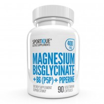 Sportique Magnesium Bisglycinate+B6+Piperin 400 mg
